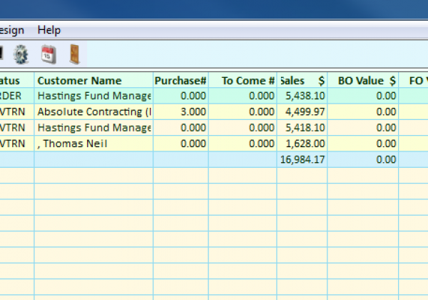 Invoicing Software – Sales Order Invoice List