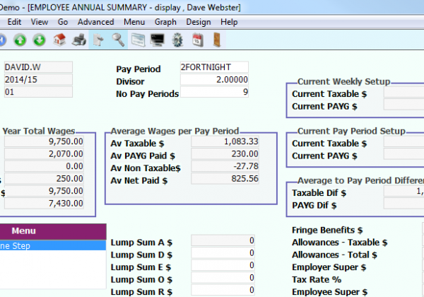 Payroll – Annual Summary