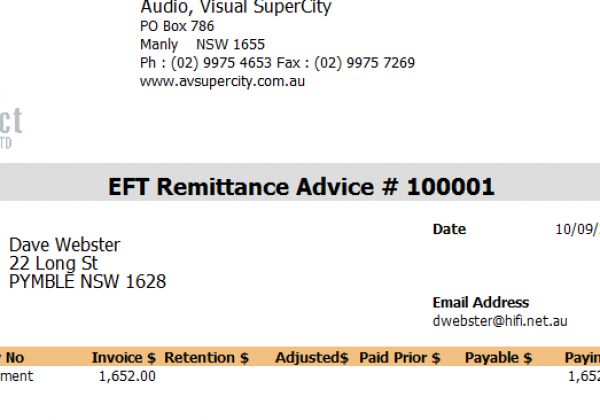Payroll – EFT Remittance