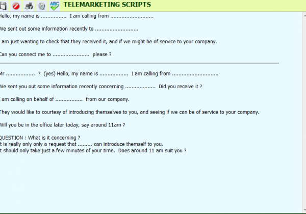 Telemarketing – Scripts
